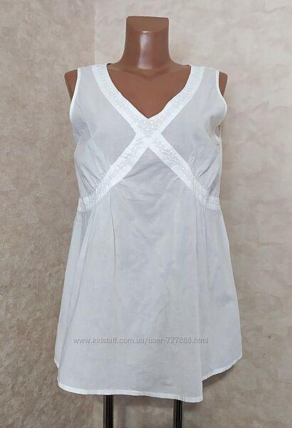 Хлопковая батистовая блуза для беременных, l-xl