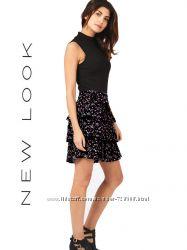 Модная многоярусная юбка бренда New Look. Размер 44-46