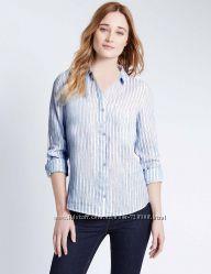 Бренд F&F. Голубая рубашка. Не мнется Стройнит Наш размер  46 и 48