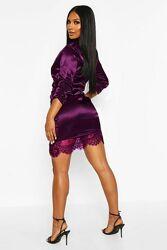 Boohoo. Товар из Англии. Потрясающее платье в модном оформлении.