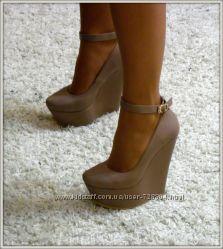 Туфли на платформе танкетки в стиле zanotti