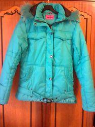 Зимняя куртка, пуховик мятного цвета. Утеплитель Полифилл. Размер- L. 46