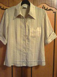Легкая женская блузка, кофта горчичного цвета. Размер-46 L.