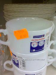 Новая белая керамическая бульонница. Luminarc.