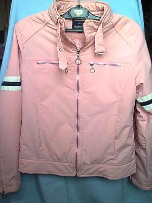 Демисезонная куртка ветровка на синтепоне. Розовая. Размер-М .