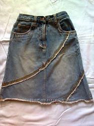 Джинсовая юбка TESCO на девочку  .