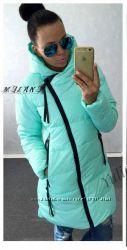 Куртка женская деми-еврозима в двух цветах-мята и розовый Размер -  M-xl,