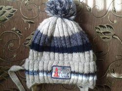 Зимняя шапка мальчику 2-4года бу