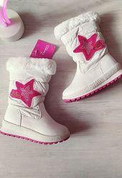 Яркие зимние сноубутсы на девочку ТМ Kimbo-o