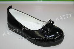 Школьные туфли черные Lilin Shoes