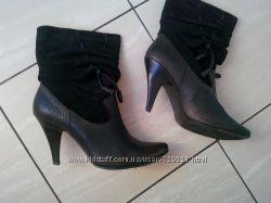 Демисезонні шкіряні чобітки