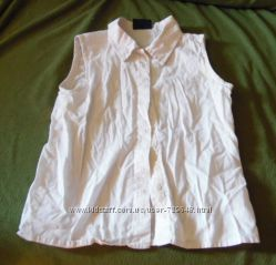Блузка безрукавка белая