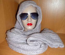 Нежно-лиловый брендовый шарф-хомут C&A