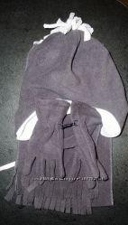 Набор флисовый шарф  шапка перчатки от C&A супер цена