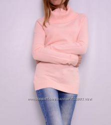 Теплые удлиненные свитера с хомутом, выбор цветов