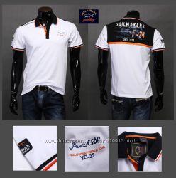 Брендовые мужские футболки Ralph Lauren, PaulShark.