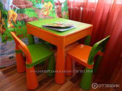Многофункциональный столик и 2 стула. Комплект Tega Mamut Польша