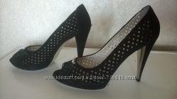 Туфли кожаные Еssere, практически новые, длина стельки 25 см