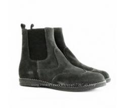 Замшевые и кожаные демисезонные ботинки