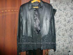 продам новую нарядную кожаную куртку для модницы