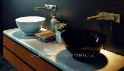 Ремонт ванной комнаты литой камень мрамор сантехника цветная