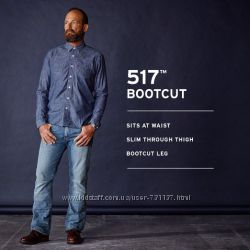 Джинсы, Levis, Mens, 517, Bootcut, Jeans W42L30