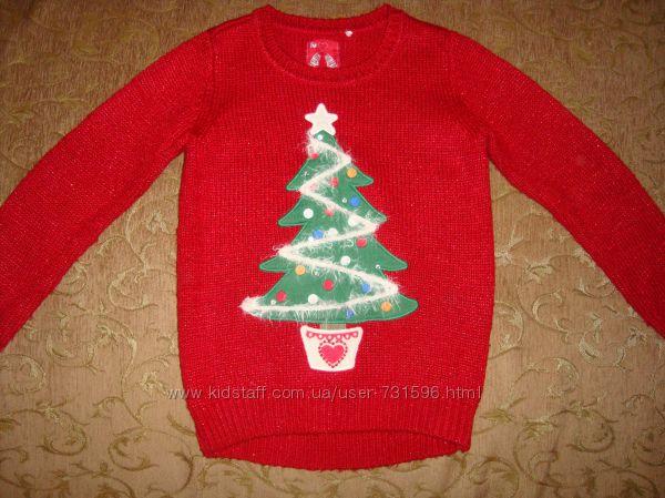 Новогодний свитер на 6-7 лет