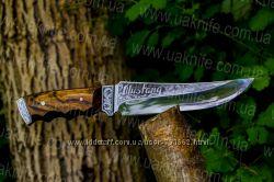Нож Мустанг ручной работы с документами