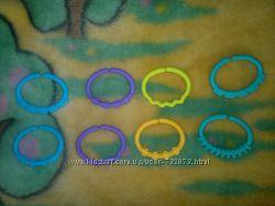 Развивающая игрушка Цветная цепочка из гибких звеньев 8шт