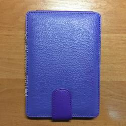 Кожаная обложка чохол Skin Flip Purple для Kindle 4  Kindle 5