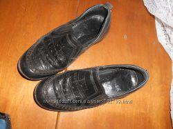 Черные, кожаные туфли BARTEK , в школу , на сменку, размер 30