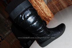 зимние кожаные сапоги geox 39 размер