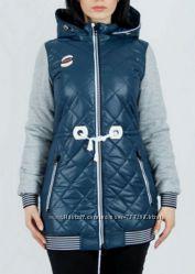 Жилетка куртка парка женская синяя