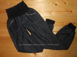 Джинсы брюки на резинке для беременных 48 размер L