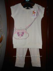 Летний комплект 98 см, 3 года, Фламинго