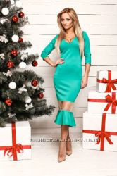 Красивое бирюзовое платье от ТМ Dress Code в наличии размер S 42