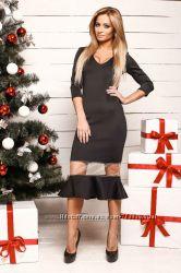Dress Code платье оригинал в наличии размер S черное с воланом
