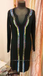 Новые фирменные трикотажные платья шикарного качества S, M, L размера