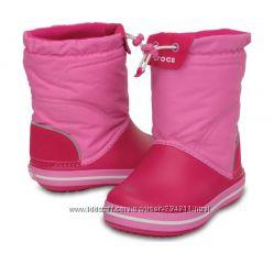 Сапожки зимние непромокаемые с затяжкой CROCS Kids Crocband LodgePoint Boot