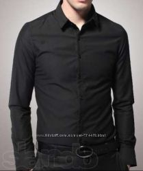 Коллекция мужских рубашек черного цвета NEXT, Authentic Quality, SMOG, ANGELО