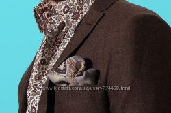 Стильный пиджак BOSS. Коричневого цвета 100  шерсть.