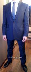 Деловой костюм Marks & Spencer синего цвета. Размер 44-46 М.