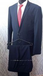 деловой костюм burton синий. размер пиджака 40r