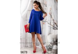 4db91878045 Синие платье свободного кроя. Размер 46-48