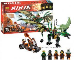 Конструктор Bela 10526 Ninja Ниндзя Ninjago Ниндзяго Зелёный энерджи дракон