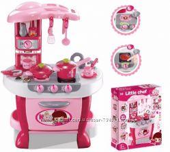 Детская игрушечная кухня с набором посуды Маленькая умница 008-801