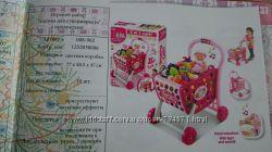 Игровой набор Тележка для супермаркета с продуктами 008-902