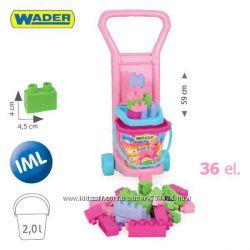Тележка с конструктором для девочек , Тм Wader Арт 10773