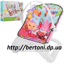 Шезлонг качалка Бемби M 3250 детский с вибро режимом Bambi кресло M 3251
