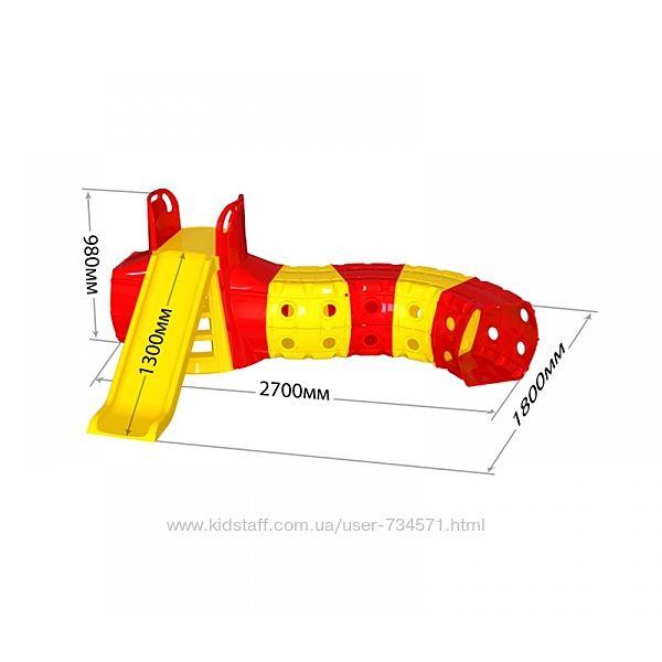 Горка с тоннелем для детей Doloni 01470